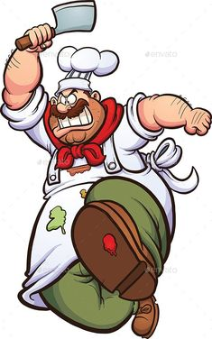 Buy Angry Chef by memoangeles on GraphicRiver. Angry cartoon chef running with a knife. Vector clip art illustration with simple gradients. All in a single layer. Angry Cartoon, Cartoon Chef, Cartoon Faces, Cartoon Characters, Chef Pictures, Pictures To Draw, Famous Cartoons, Funny Cartoons, Character Illustration