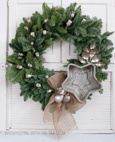 Here's a whimsical Vintage Tin Jelly Mold Wreath! from Keeping With The Times