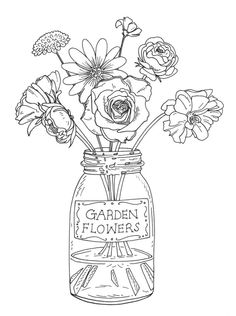 Blumen Stempel Designs für One Penny Black 3961