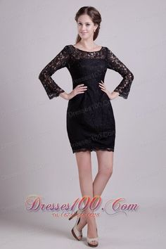 Buy scoop neck long sleeves black lace mother of the bride dresses from short style mother dresses collection, scoop neckline column/sheath in black color,cheap mini length dress with zipper back and for wedding party pageant . Black Party Dresses, Prom Dresses For Sale, Designer Prom Dresses, Black Evening Dresses, Cheap Evening Dresses, Club Dresses, Short Dresses, Mother In Law Dresses, Mothers Dresses