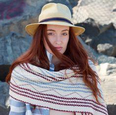 Sunrise Wrap hand knitting pattern #knitting #shawl #knitwear #margeausoboti #chevron #woven #weaving #easy