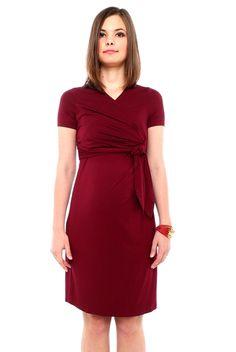 BUMP IT UP MATERNITY /& NURSING BLACK OR MAGENTA PLUS SIZE WRAP DRESS BNWT £29