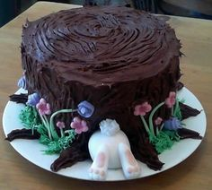 Easter Bunny in a Stump: Add the Bunny Bottom