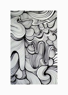 curved line zentangle - pinned with Mitchell in mind :) Mehr Op Art, Zentangle Drawings, Art Drawings, Zentangles, Doodle Patterns, Zentangle Patterns, Art Zen, Sharpie Art, Sharpie Drawings