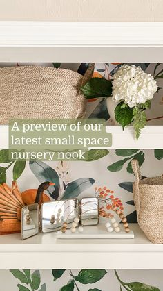 Nursery Nook, Nursery Ideas, Nursery Decor, Room Decor, Small Space Nursery, Small Space Living, Living Spaces, Tiny Closet, Small Space Solutions