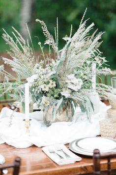 Grand Teton National Park Modern Romance Wildflowers & Sage bridal bouquet wedding centerpiece Inspiration white and green wildflowers. Destination Wedding Jackson Hole wedding