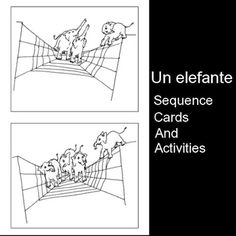 Printable sequence cards and activities for the Spanish song Un elefante se balanceaba. My kids love these cards because the elephants are adorable! http://www.spanishplayground.net/spanish-songs-for-kids-printable-elefante/