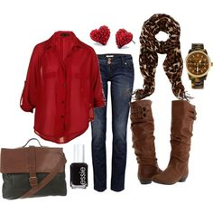 My style minus the jeans, I would do leggings a short skirt and a different color blouse or better yet a nice sweater.