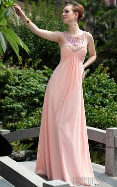 Cute Empire A-line Floor-length Prom Homecoming Dress