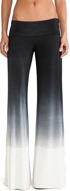 40e72ac8ac13 Casual Low Waist Elastic Gradient Wide Leg Pants