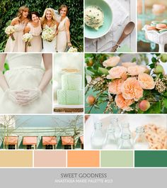 sweet goodness -fresh as mint sweet as peaches #wedding #gamos