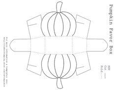 Free Printable Pumpkin Favor Box Template