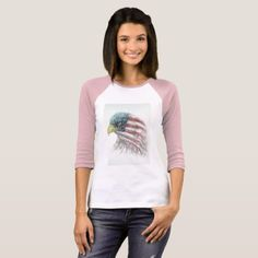 #eagleeagle with american flagbald eagle bald T-Shirt - #4thofjuly #patriotic #patriot Independence Day Fourth of July July Fourth waving the flag