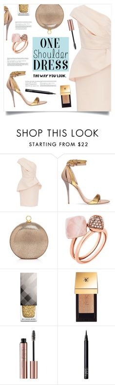 """The Way You Look ..."" by marina-volaric ❤ liked on Polyvore featuring Monique Lhuillier, Balmain, Halston Heritage, Michael Kors, Burberry, Yves Saint Laurent, NARS Cosmetics and dress"