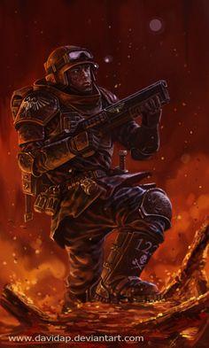 """ Imperial Guard: Sargent Banes by DavidAP """