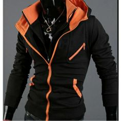 $31.64    Stylish Slim Stand Collar Blazer Coat Zip UP Jacket Hoodie for Men
