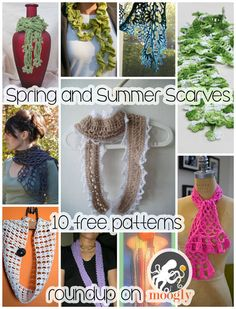 Spring and Summer Scarves to Crochet - free patterns for a year round look!   White lacey summer cowl was fast & easy to make. It is very beautiful. Please block it. This makes the pattern stand-out.