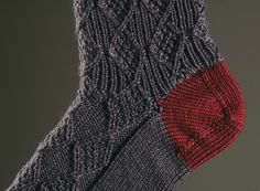 The pattern for these Moss and Diamond Socks and Math4Knitters, Crafty Living: Show 94 will be available at journalgazette.net/craftyliving on October 16, 2011.