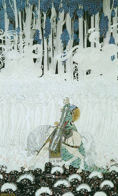 Kay Nielsen - The Knight Tempted                                                                                                                                                                                 More