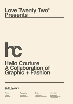 Helvetica and Swiss Style Design at its best, repinned by DesignHandbook.net