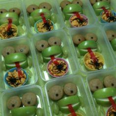 Sunday school snack… Froggy apple idea adapted from Family Fun website again. Fun!!