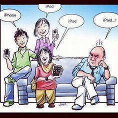 filipino funny jokes images | Iphone + Ipad + Ipod = IPaid