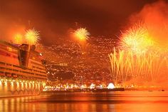 Funchal New Year's Fireworks (detail) Photo by Hugo Reis