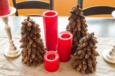 DIY Christmas Pinecone Trees