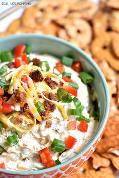 Cheesy bacon Chipotle Ranch Dip has cheese, bacon and ranch how could you get any better than that?!