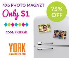York Photo $$ Photo Magnets Only $1 (Reg. $3.99)!