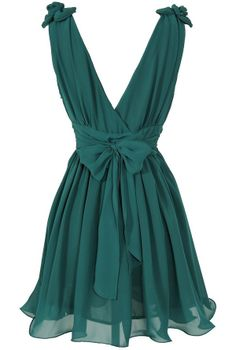 Jade Green Tie-Back Dress