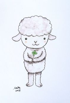 Nursery Decor Sheep Lamb Illustration Print Lamb Nursery Wall Art Print Farm…