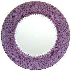Mottahedeh Lace Service Plate - Plum