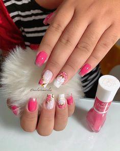 Fails Design Pink Cherry Blossoms New Ideas Em Nails, Rose Nails, Pink Nail Art, Pink Nails, Nail Designs Spring, Nail Art Designs, Korea Nail Art, Cute Spring Nails, Luxury Nails