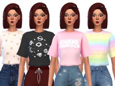 16 super cute cropped tops! Found in TSR Category 'Sims 4 Female Everyday'