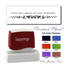 Bookplates & Name Plates : Custom Stamps, Personalized Stamps, Return Address, Circle & More : The Stampin' Place