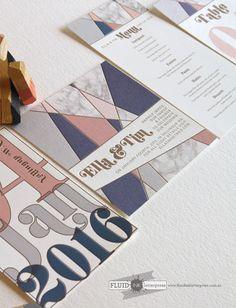 Wedding invitation / by Fluid Ink Letterpress