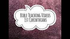 First Corinthian Bible Teaching Videos In this series of videos, we are working through the book of First Corinthians in the New Testament part of the Bible. Spiritual Discernment, Bible Teachings, Lords Supper, Understanding The Bible, Life Questions, How Big Is Baby, Interesting Reads, New Testament