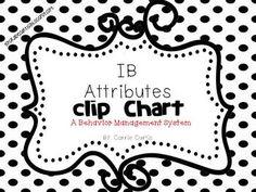 IB/PYP Chevron Clip Chart ~ Essential Agreement Ideas ~EDI