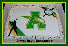 High School Base Ball Half Sheet Cake