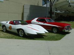 The Mach 5 | ... next to the speed racer mach 5 with the white paint job and red stripe
