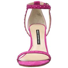 French Connection Womens Libby Leather Embellished Dress Sandals
