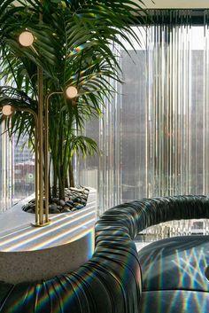 Press kit - New MARCUS restaurant at Four Seasons Hotel Montreal - Atelier Zébulon Perron   v2com-newswire Lobby Design, Design Entrée, Four Seasons Hotel, Restaurant Design, Commercial Interior Design, Commercial Interiors, Hotel Montreal, Lobby Do Hotel, Modern Architecture
