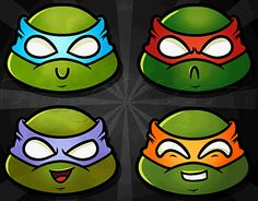 how to draw chibi teenage mutant ninja turtles