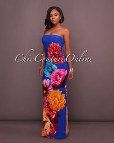 Chic Couture Online - Mahana Royal-Blue Multi-Color Floral Print Maxi Dress, (http://www.chiccoutureonline.com/mahana-royal-blue-multi-color-floral-print-maxi-dress/)