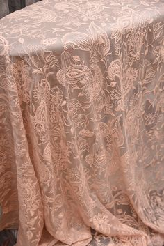 crinkle  silk chiffon with embroidery embroidered yoryu
