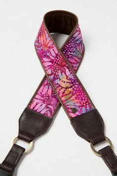 $110. Psychadelic Sunflowers Camera Strap by Abie Designs | Abie Straps