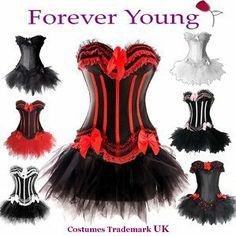 Forever Young Burlesque Moulin Rouge Lolita FANCY DRESS Corset & Tutu [UK & IRELAND]