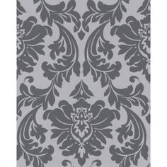 Shop Superfresco Easy Majestic Wallpaper in Grey/Silver at Lowe's Canada. Find our selection of wallpaper Grey Pattern Wallpaper, Grey Damask Wallpaper, Grey Wallpaper Samples, Grey Removable Wallpaper, Silver Wallpaper, Black And White Wallpaper, Textured Wallpaper, Designer Wallpaper, Bedroom Wallpaper