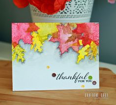 Lovely Leaves thankful for you card by Gayatri Murali